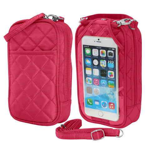 Cell Phone Purse - Fuschia PursePlus Q with Touchscreen