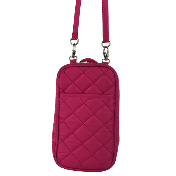 Cell Phone Purse - Fuschia PursePlus Quilt with Touchscreen - Charm14