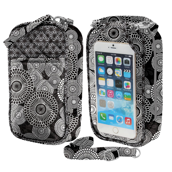 Cell Phone Purse - Kaylee PursePlus Quilt with Touchscreen - Charm14