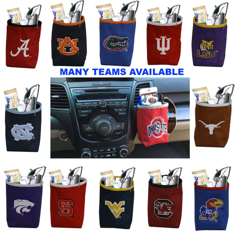 NCAA Car Vent Pocket Organizer with Embroidered Logo- Fits All Cars -by Little Earth - Charm14