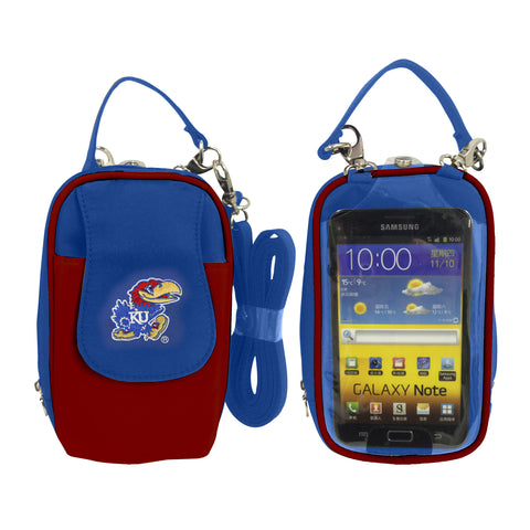 Kansas Jayhawks -NCAA-PursePlus XL with Touchscreen - Charm14