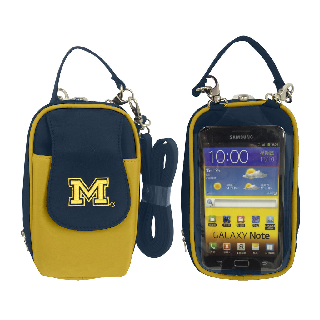 NCAA Michigan Wolverines PursePlus XL with Touchscreen - Charm14