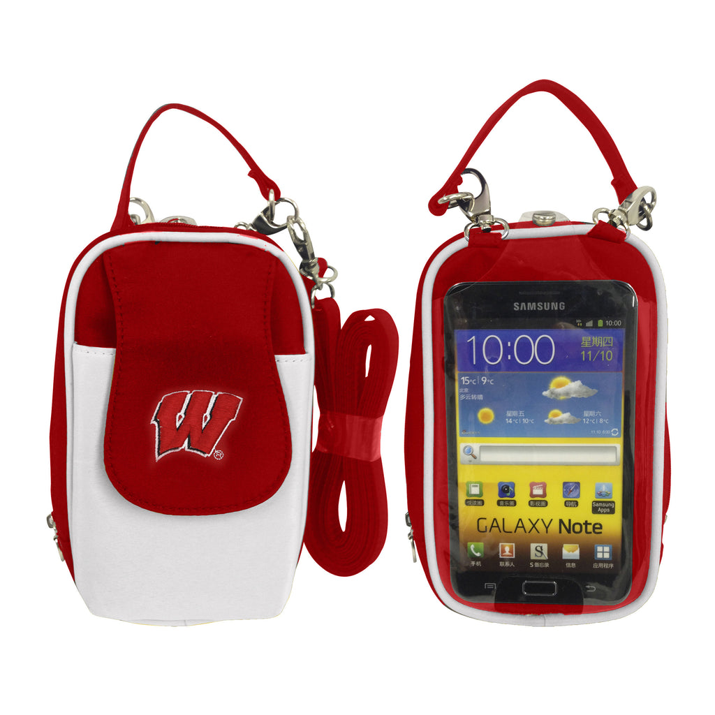 NCAA Wisconsin Badgers PursePlus XL with Touchscreen - Charm14