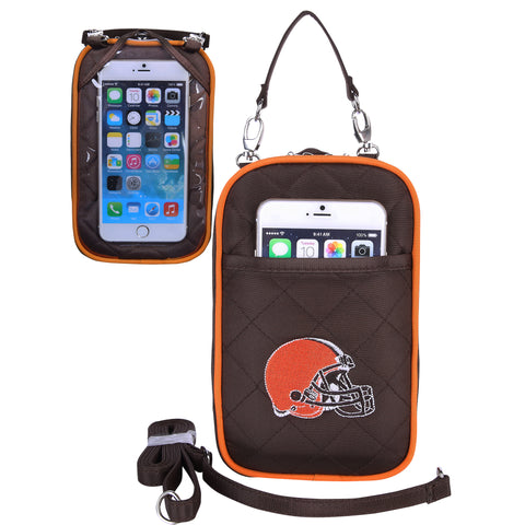 Cleveland Browns Cell Phone Purse Plus Quilt - Charm14