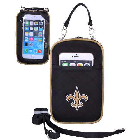 New Orleans Saints Cell Phone Purse Plus Quilt