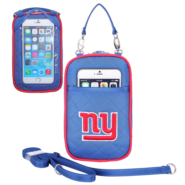 NFL Women's Crossbody Bag Quilt-Embroidered Logo-Fits All phones- by Little Earth - Charm14