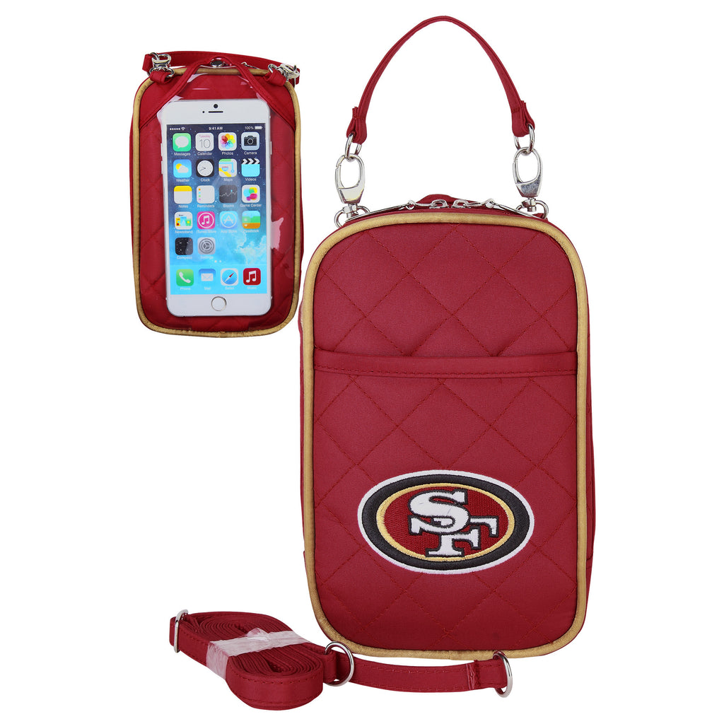 San Francisco 49ers Cell Phone Purse Plus Quilt - Charm14