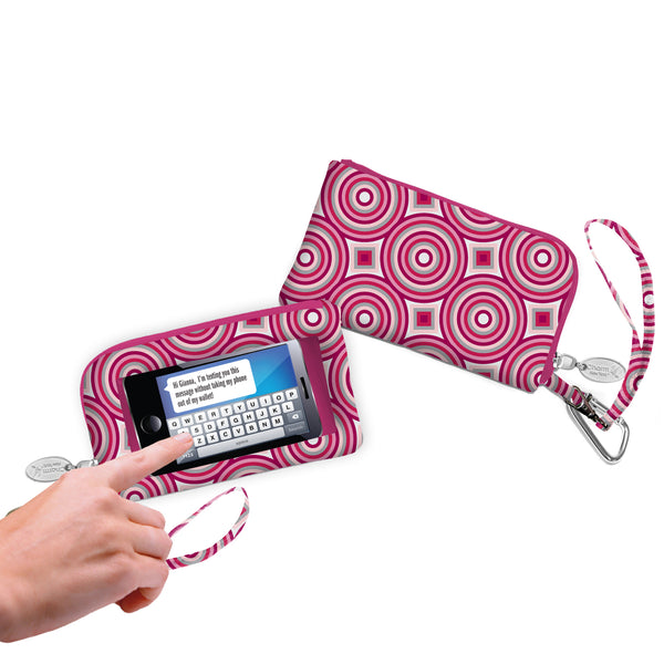 Cell Phone Wallet/Wristlet- Fashion Designs - Charm14