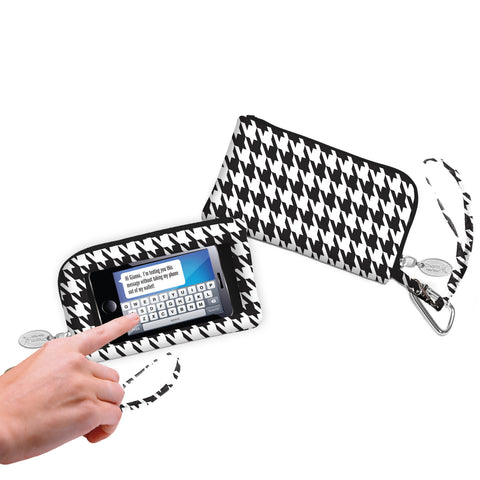 Houndstooth Smartphone Wristlet - Charm14