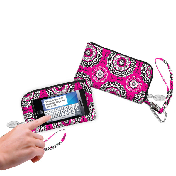 Cell Phone Wallet/Wristlets-Fashion Designs by Debra Valencia - Charm14