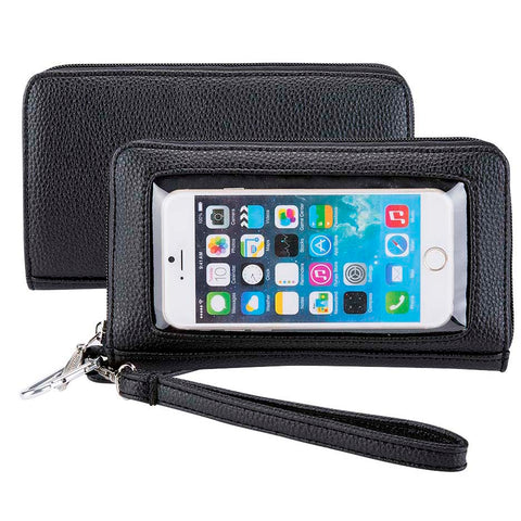 Pebble Black Deluxe Smartphone Wallet - Charm14