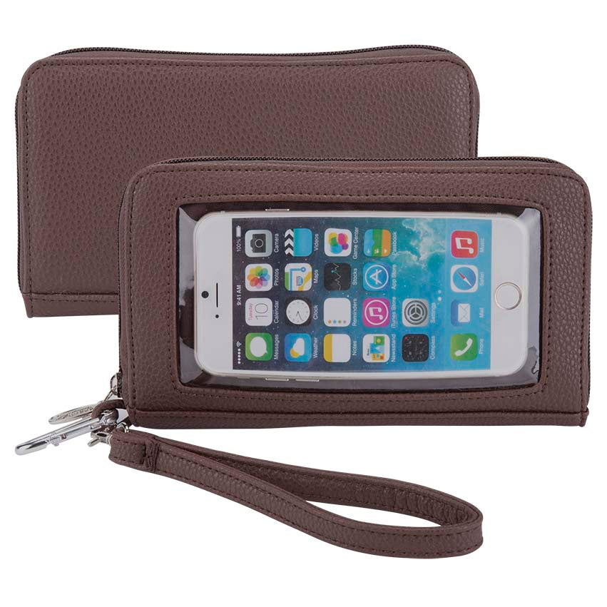 Pebble Brown Deluxe Smartphone Wallet - Charm14