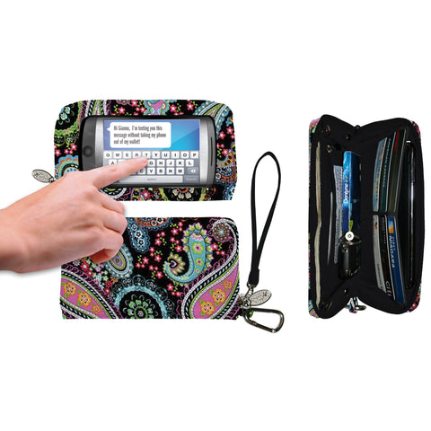 Paisley Multicolor Deluxe Smartphone Wallet - Charm14