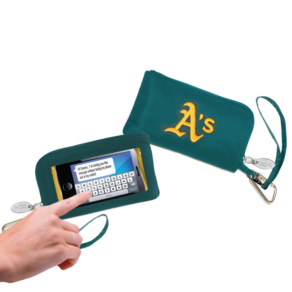 Oakland Athletics Cell Phone Wallet / Wristlet - Charm14