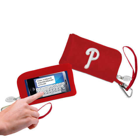 Philadelphia Phillies Cell Phone Wallet / Wristlet