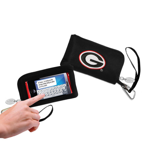 Georgia Bulldogs Cell Phone Wallet / Wristlet