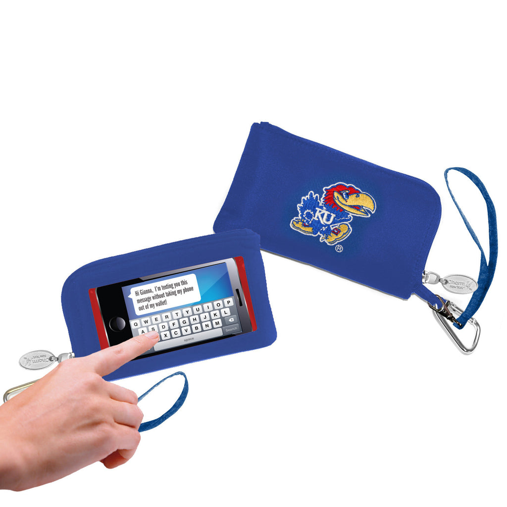 Kansas Jayhawks Cell Phone Wallet / Wristlet - Charm14