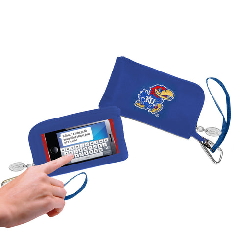 NCAA Cell Phone Wallet/Wristlet-Embroidered Logo - Charm14