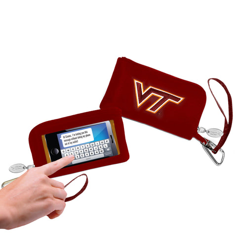 Virginia Tech Hokies Cell Phone Wallet / Wristlet