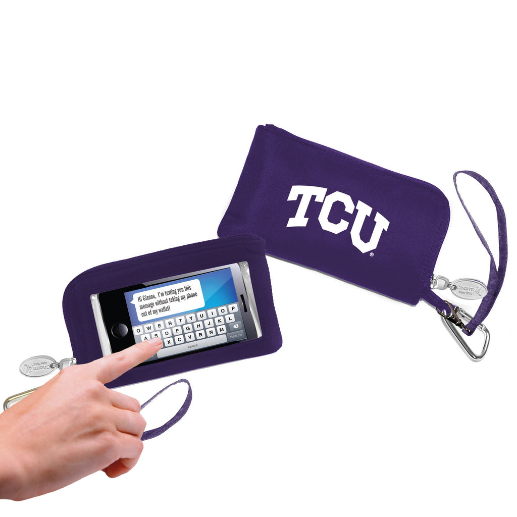 TCU Horned Frogs Cell Phone Wallet / Wristlet - Charm14