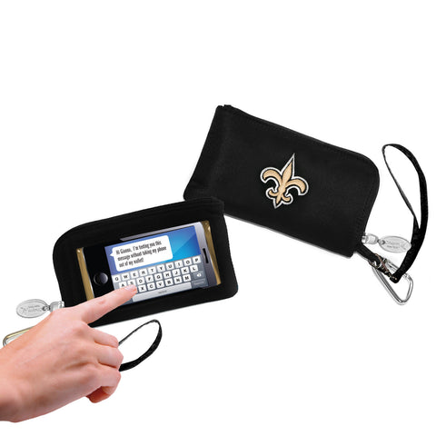New Orleans Saints Cell Phone Wallet / Wristlet
