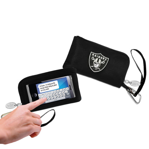 Oakland Raiders Cell Phone Wallet / Wristlet