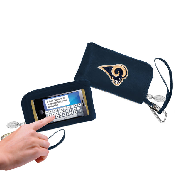 NFL Women's Cell Phone Wallet with Embroidered Logo by Little Earth - Charm14