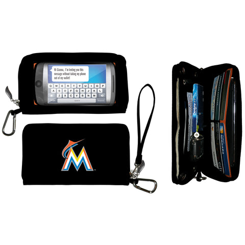 Miami Marlins cell phone wallet