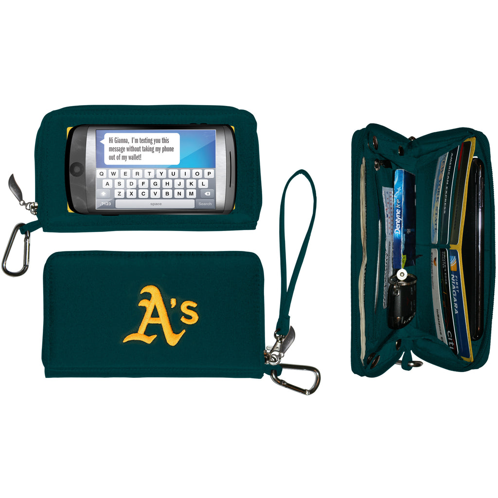 Oakland Athletics cell phone wallet