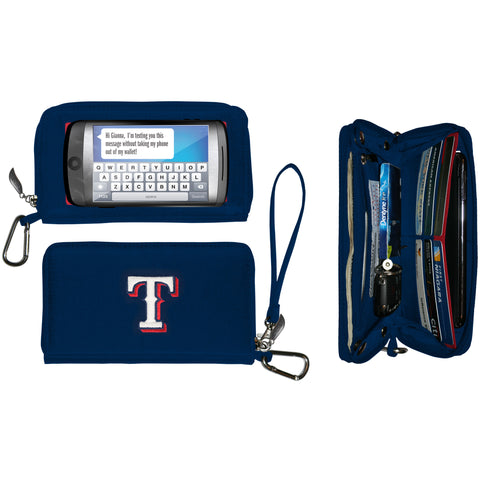 Texas Rangers cell phone wallet