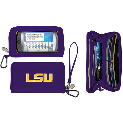 Charm14 NCAA Deluxe Cell Phone Wallet- Stadium Approved - Fits All Phones - by Little Earth - Charm14