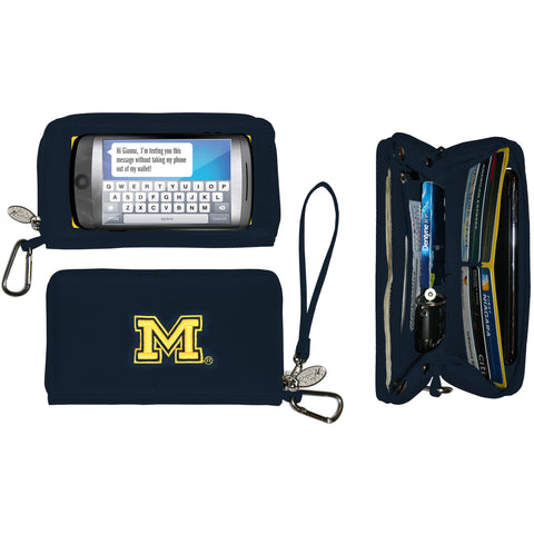 NCAA Michigan Wolverines Deluxe Smartphone Wallet - Charm14