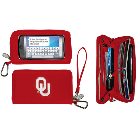 Oklahoma Sooners Ladies Cell Phone Wallet