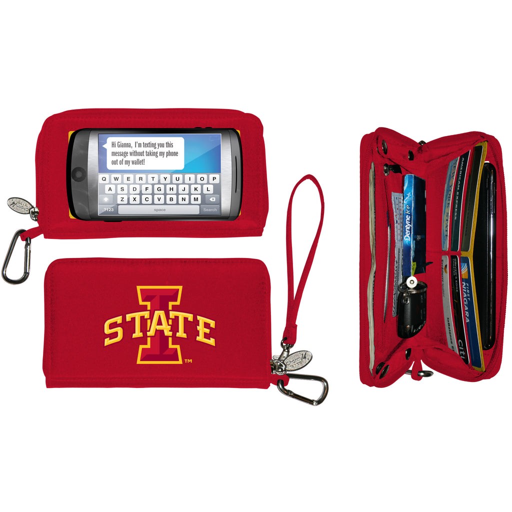 NCAA Iowa State Cyclones Deluxe Smartphone Wallet - Charm14