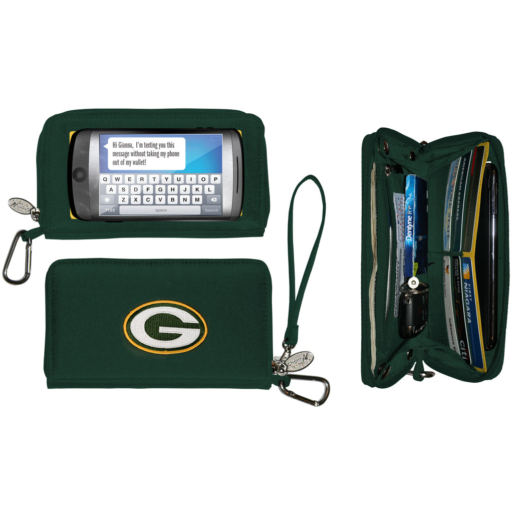 Green Bay Packers Deluxe Smartphone Wallet - Charm14