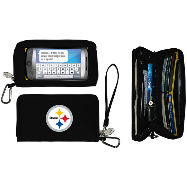 NFL Womens Deluxe Cell Phone Wallet with Embroidered Logo- Fits All Phones by Little Earth - Charm14