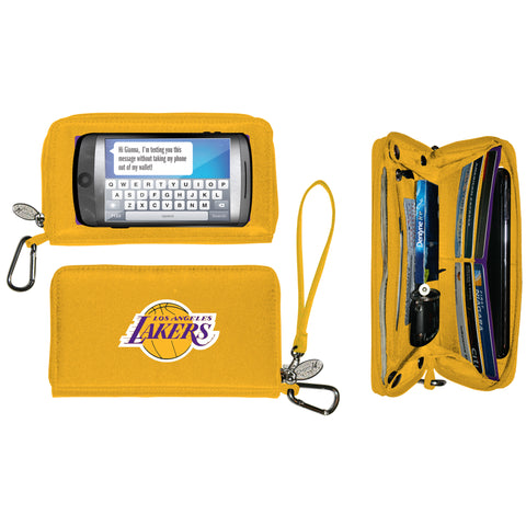 Los Angeles Lakers Deluxe Smartphone Wallet - Charm14