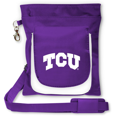 NCAA TCU Horned Frogs Traveler / Crossbody - Charm14
