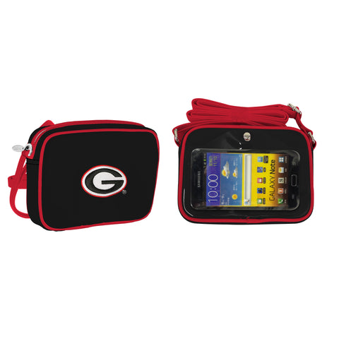 NCAA Georgia Bulldogs Crossbody with Smartphone Touchscreen - Charm14