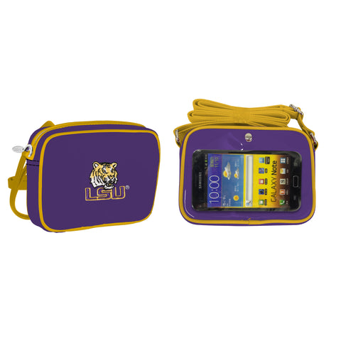 NCAA LSU Tigers Crossbody with Smartphone Touchscreen - Charm14
