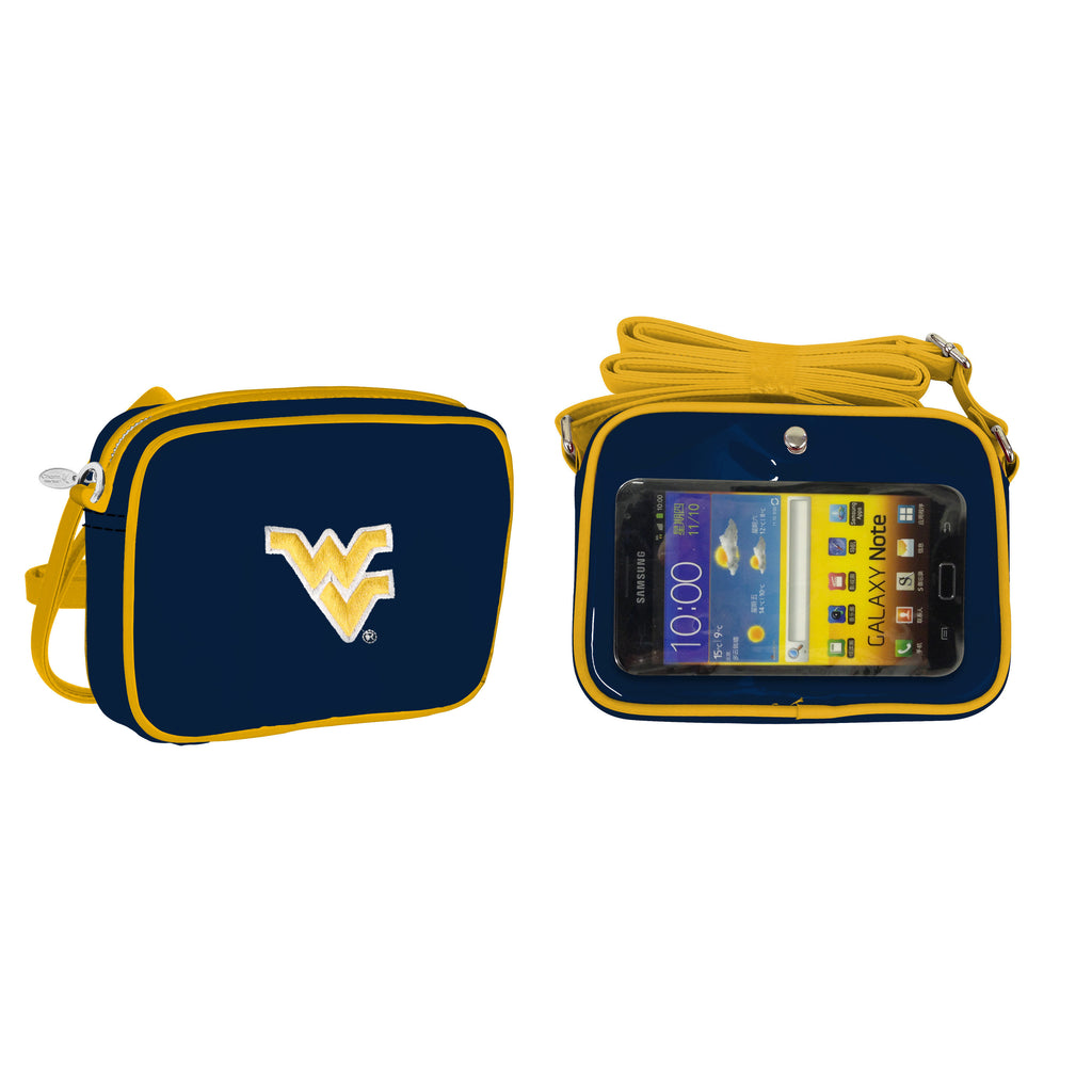 NCAA West Virginia Mountaineers Crossbody with Smartphone Touchscreen - Charm14