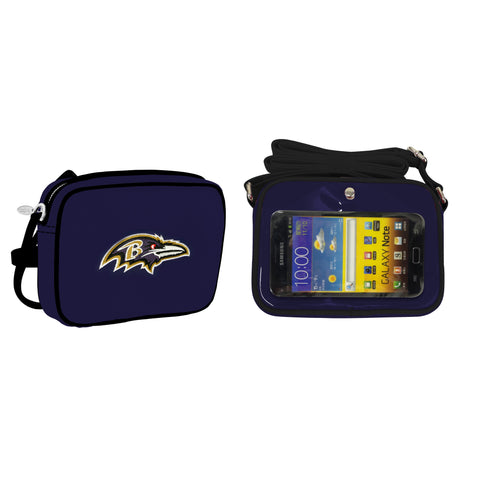 NFL Baltimore Ravens Crossbody with Smartphone Touchscreen
