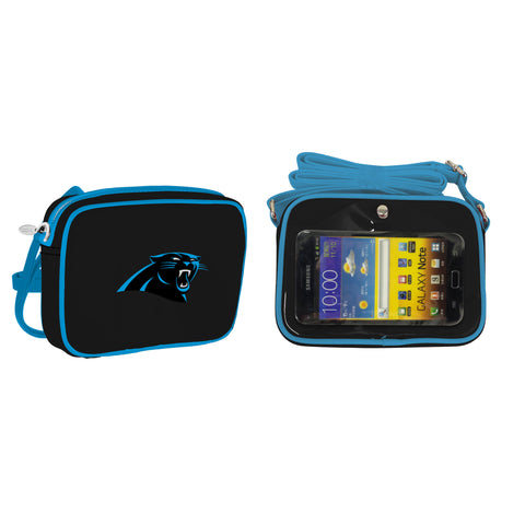 NFL Carolina Panthers Crossbody with Smartphone Touchscreen