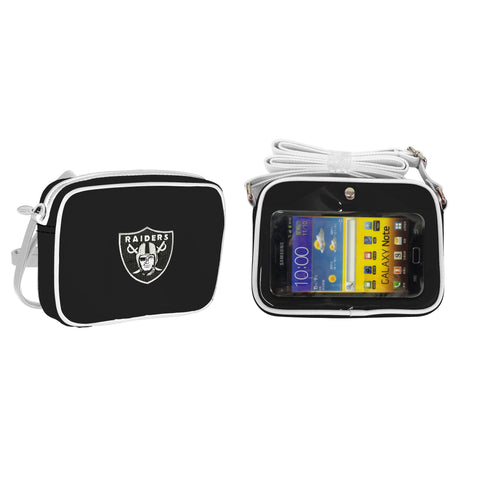 NFL Oakland Raiders Crossbody with Smartphone Touchscreen - Charm14
