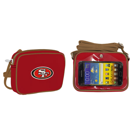 NFL San Francisco 49ers Crossbody with Smartphone Touchscreen - Charm14