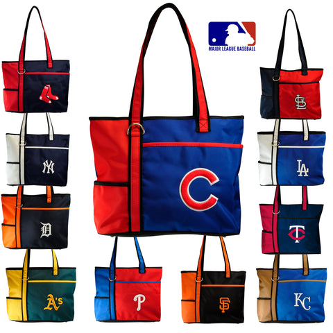 MLB Women's Tote Bag with Embroidered Logo by Little Earth- All Teams Available