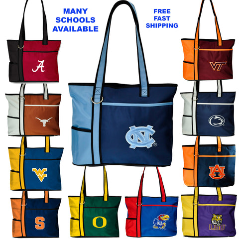 NCAA Tote Bag-Embroidered Logo