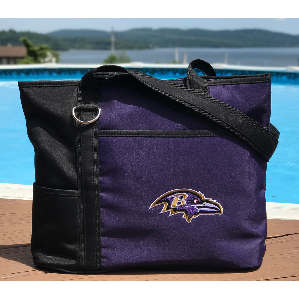 Baltimore Ravens Tote Bag with Embroidered Logo - Charm14