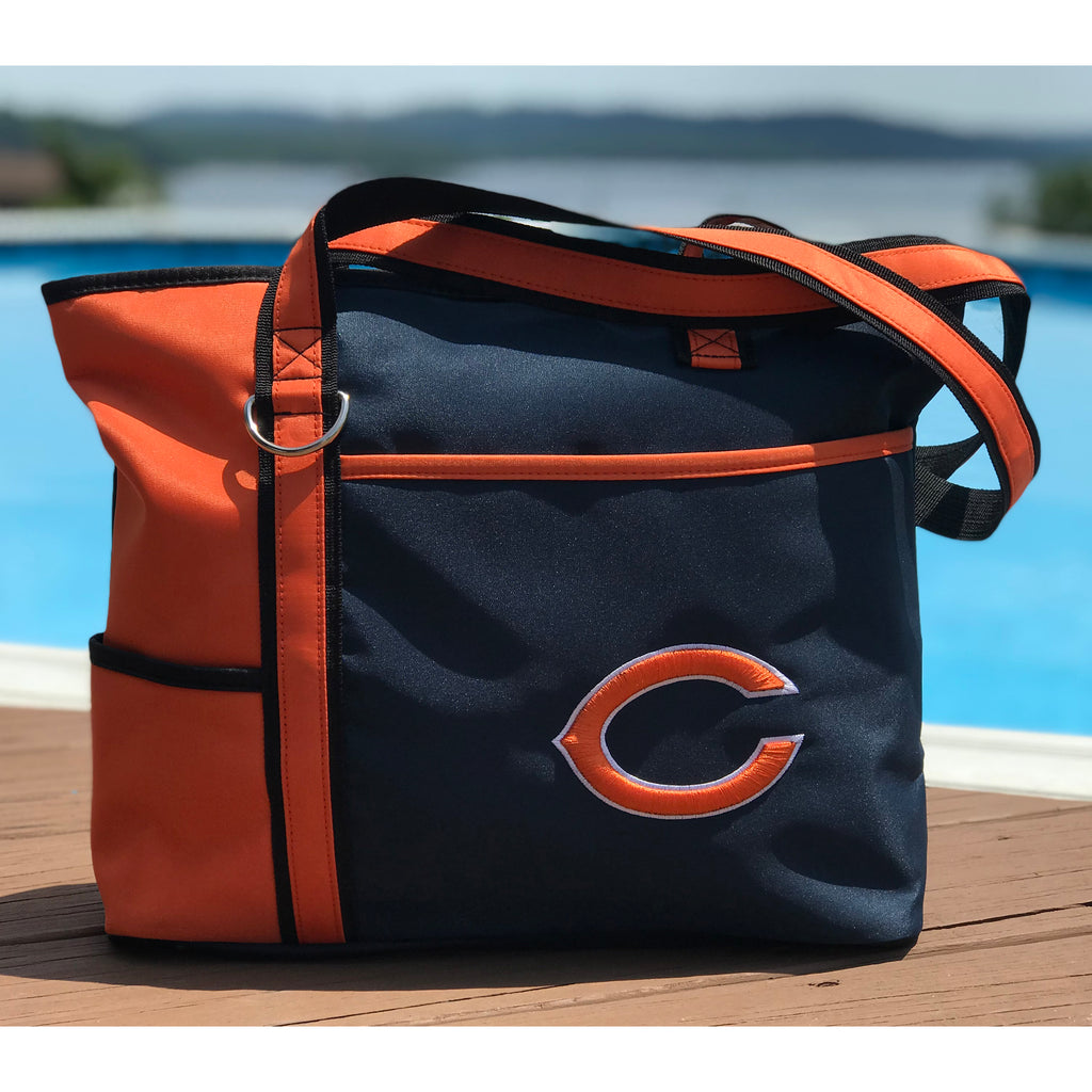 Chicago Bears Tote Bag with Embroidered Logo - Charm14