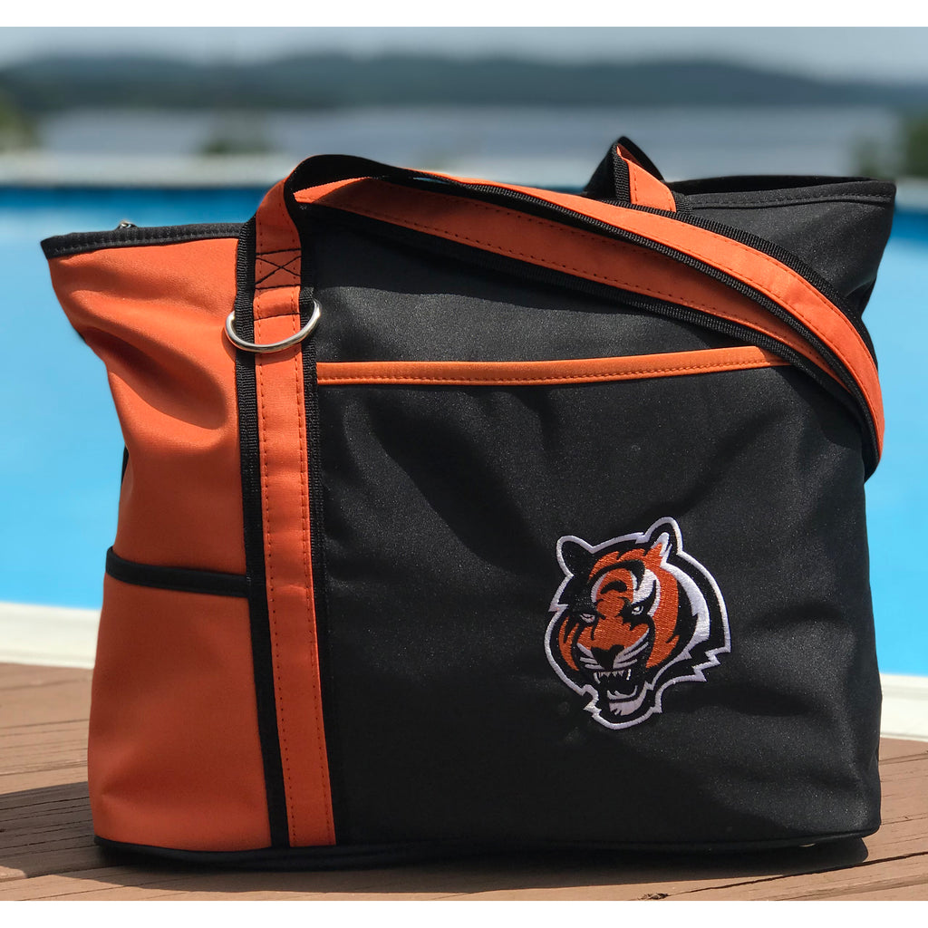 Cincinnati Bengals Tote Bag with Embroidered Logo - Charm14